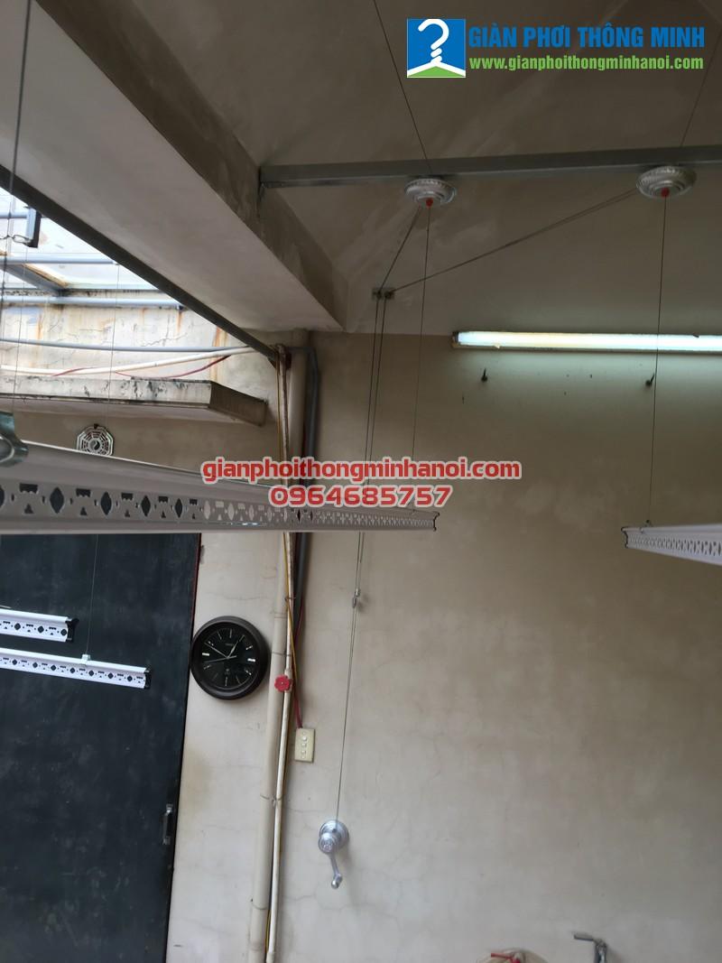 Lắp giàn phơi thông minh cho nhà anh Dũng ngõ 61, phố Phạm Tuấn Tài, Bắc Từ Liêm