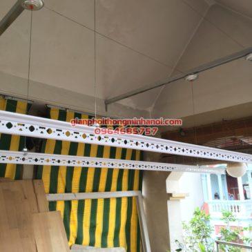Lắp giàn phơi Hoà Phát Star cho nhà anh Dũng ngõ 61, phố Phạm Tuấn Tài, Bắc Từ Liêm
