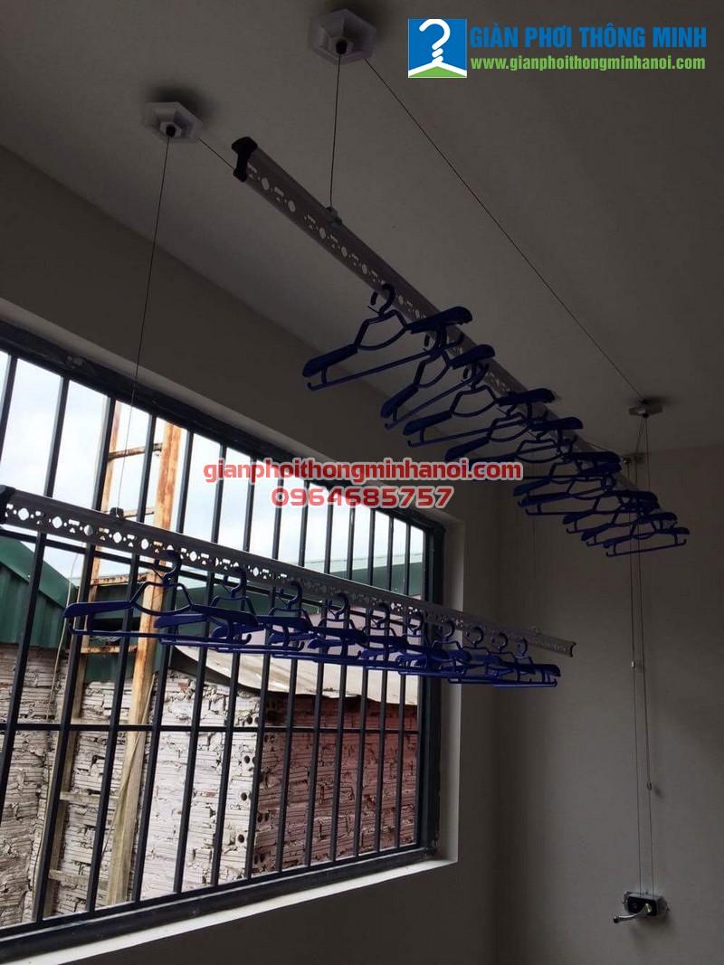 Lắp giàn phơi nhập khẩu tự động giá rẻ cho nhà chị Linh 47 Nguyễn Đình Thi