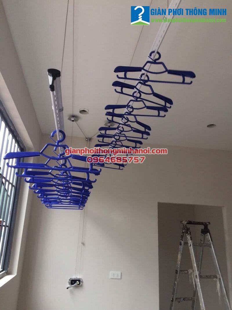 Lắp giàn phơi thông minh giá rẻ cho nhà chị Linh 47 Nguyễn Đình Thi