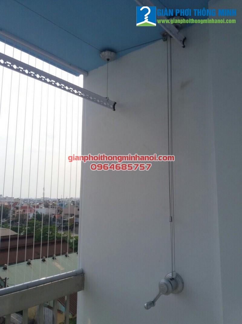 Lắp giàn phơi Ba Sao kết hợp lưới an toàn ban công cho nhà chị Lan, Gò Vấp, TP.Hồ Chí Minh