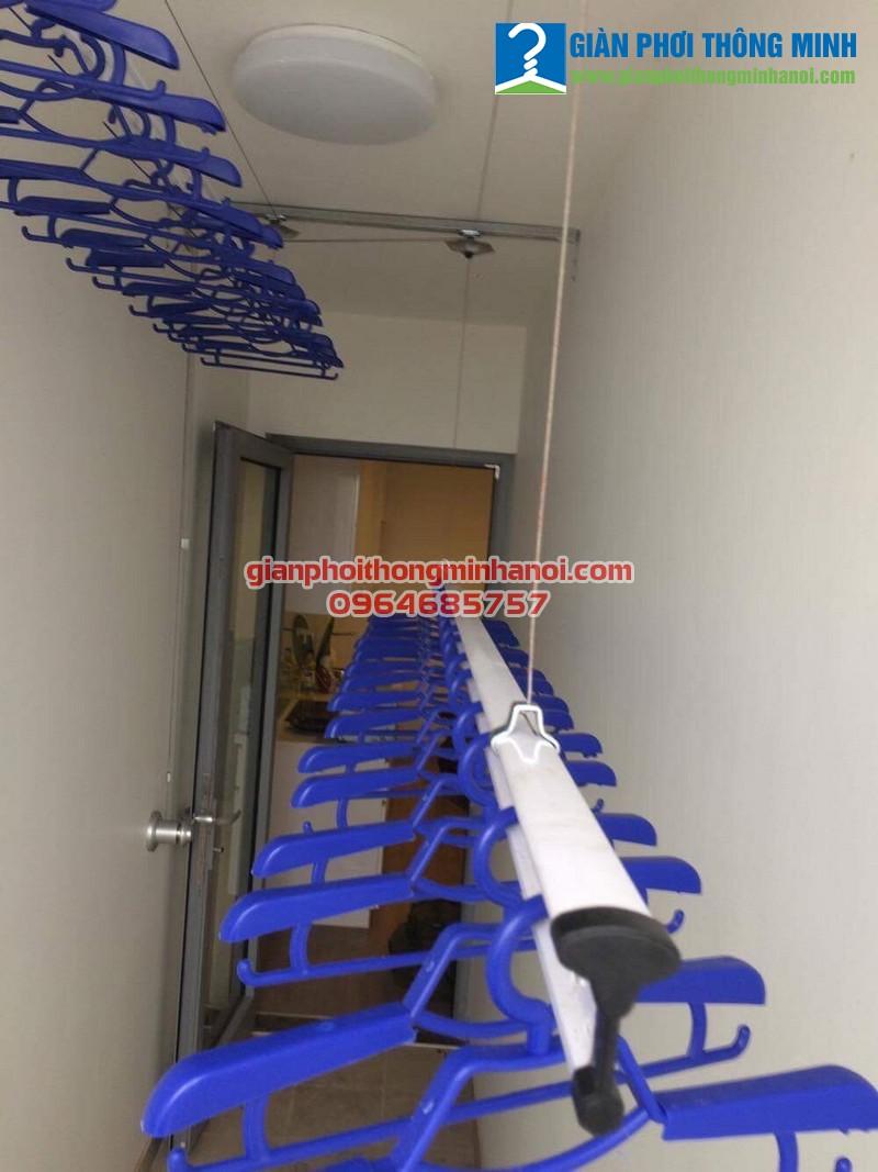 Hoàn thiện lắp đặt giàn phơi Hàn Quốc cho nhà chị Lan P0712. Park 7. Park Hill Time City