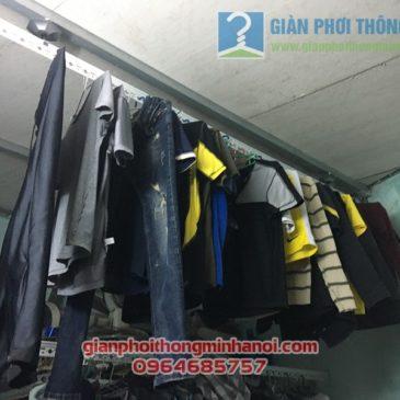 Hoàn thiện lắp giàn phơi đồ thông minh nhà cấp 4 gia đình anh Minh, thị trấn Yên Viên