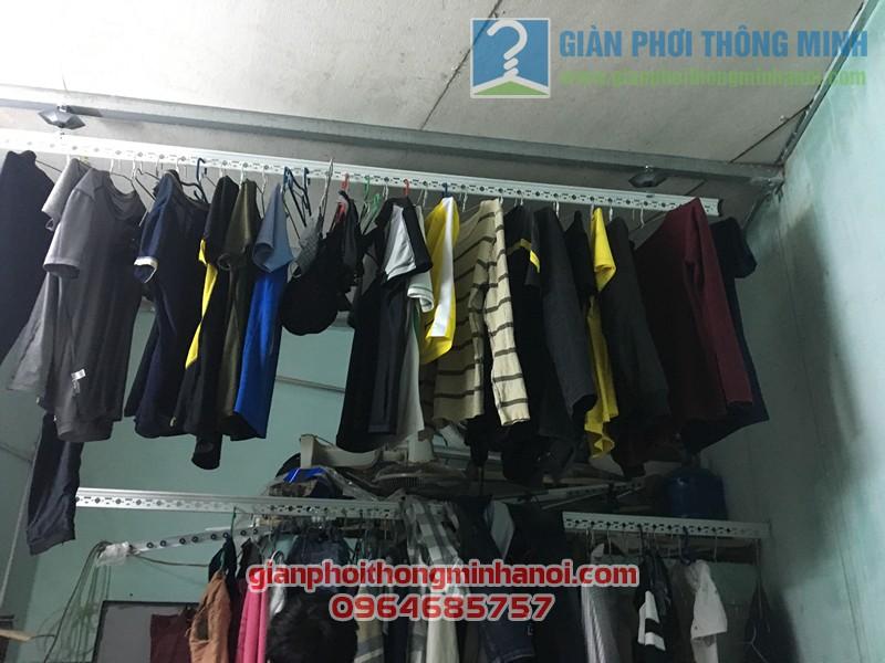 Lắp giàn phơi đồ thông minh nhà cấp 4 gia đình anh Minh, thị trấn Yên Viên