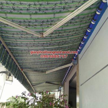 Làm bạt mái hiên di động quay tay nhà chị Thảo tại thị trấn Thường Tín