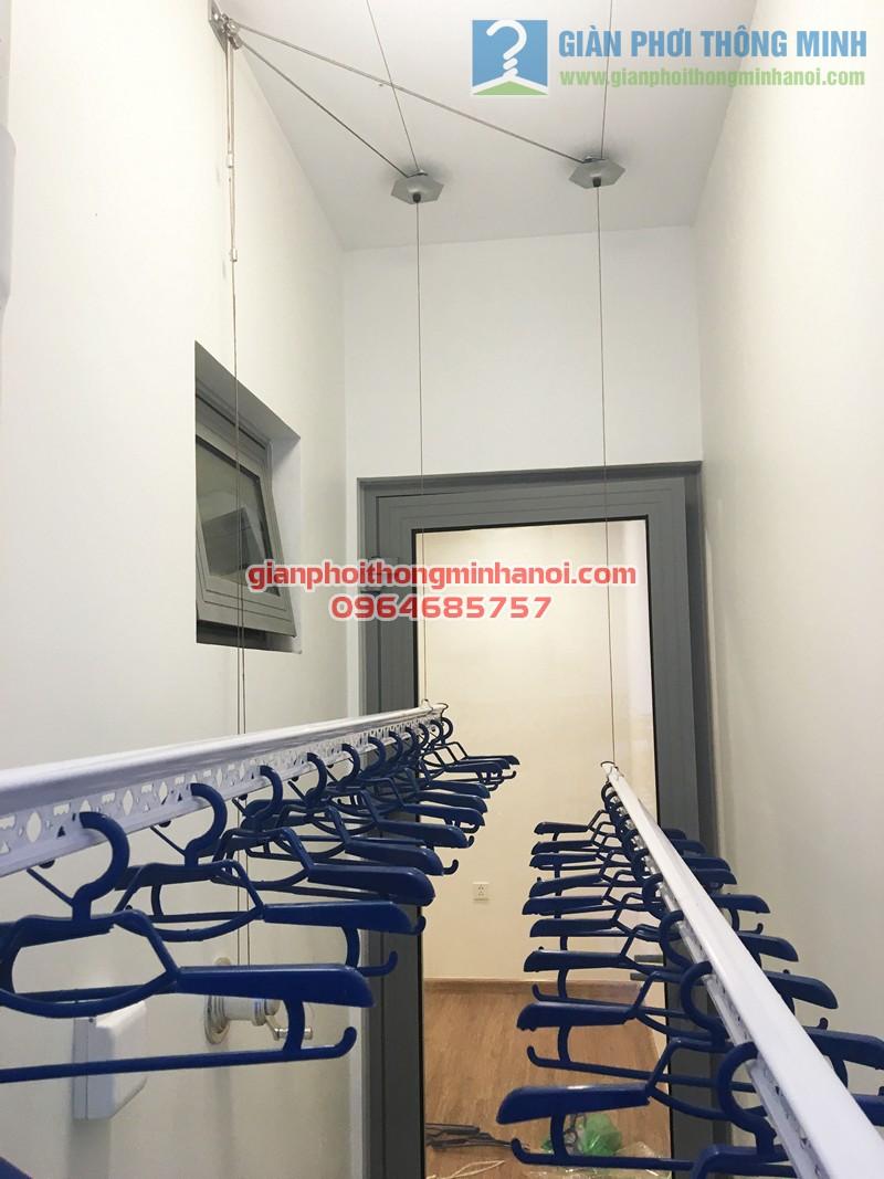 Lắp bộ giàn phơi thông minh cao cấp tại lô gia nhà chị Phương, P1015 tòa Park 6