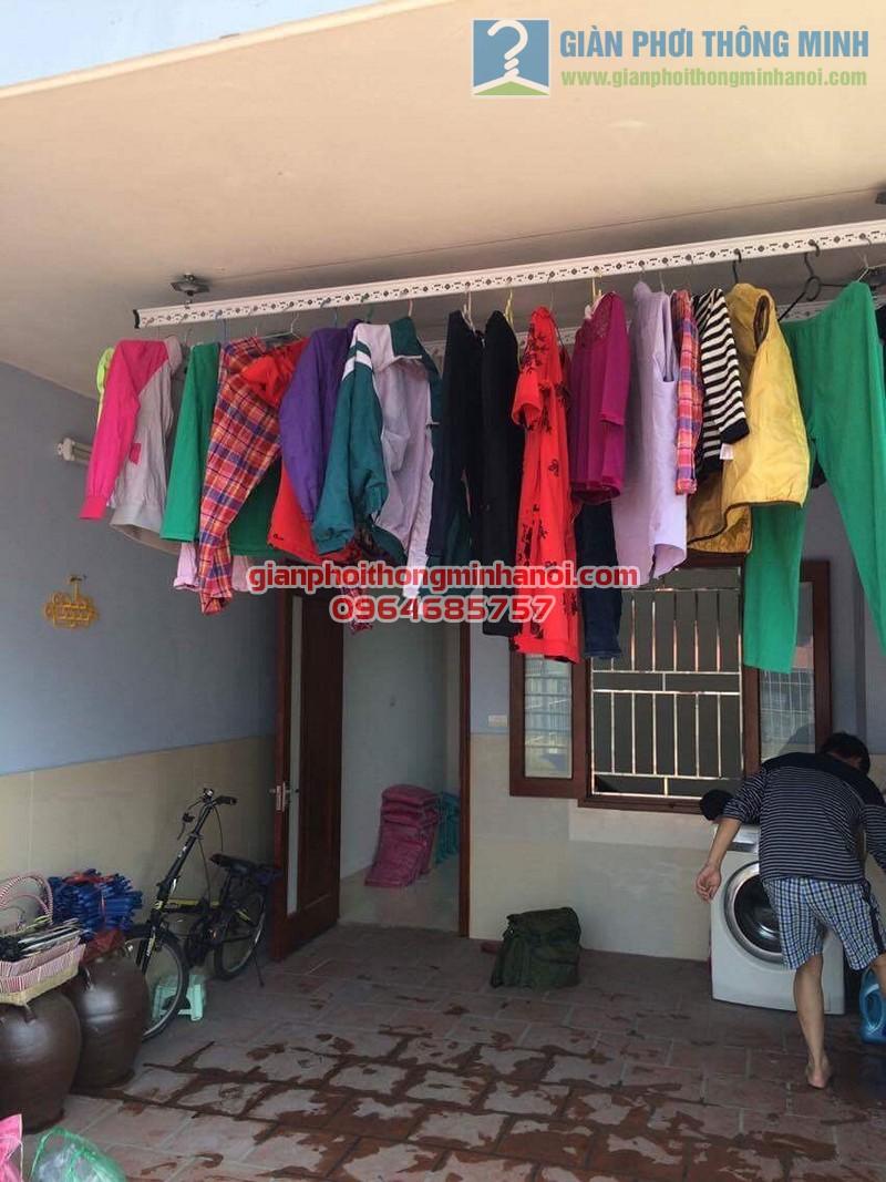 Lắp đặt giàn phơi nhập khẩu Thái Lan nhà anh Minh, ngõ 12 Lương Khánh Thiện
