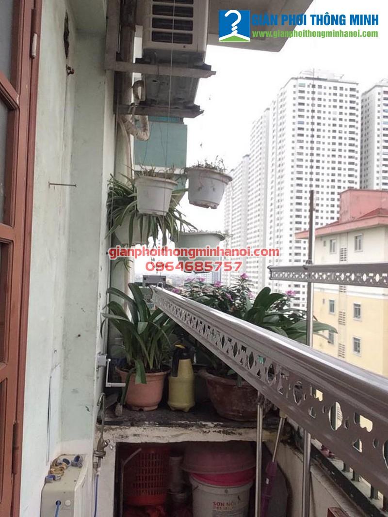 Lắp giàn phơi thông minh giá rẻ cho nhà chị Ngọc tại Linh Đàm, Hà Nội