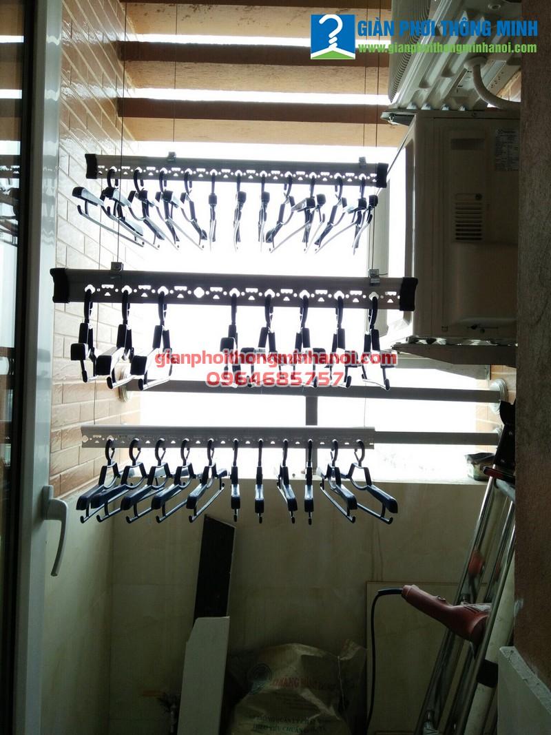 Lắp giàn phơi nhập khẩu Thái Lan trong không gian nhỏ cho nhà chị Mỹ, CT2 Nghĩa Đô
