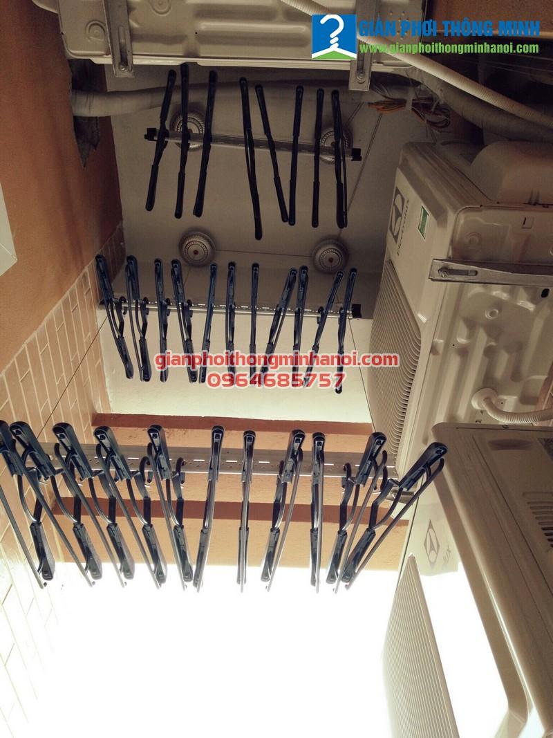 Lắp giàn phơi thông minh trong không gian nhỏ cho nhà chị Mỹ, CT2 Nghĩa Đô