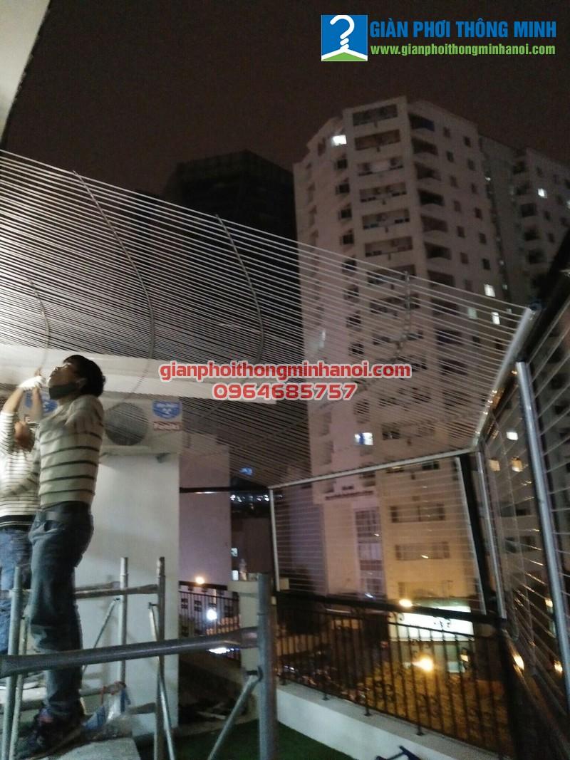 Lắp lưới an toàn tầng thượng cho nhà anh Bắc quận Hai Bà Trưng