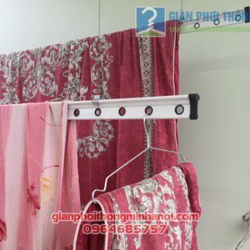 Lắp giàn phơi quần áo nhiều tiện ích nhà chị Lam, ngõ 124 Hoàng Ngân