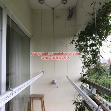Lắp giàn phơi thông minh Hàn Quốc cho nhà cô Nhàn, chung cư 103 Hà Đông