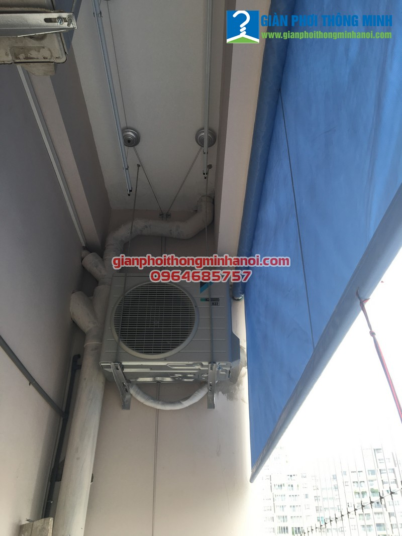 Lắp giàn phơi thông minh cho nhà chị Hà P804 chung cư 168 Trung Kính