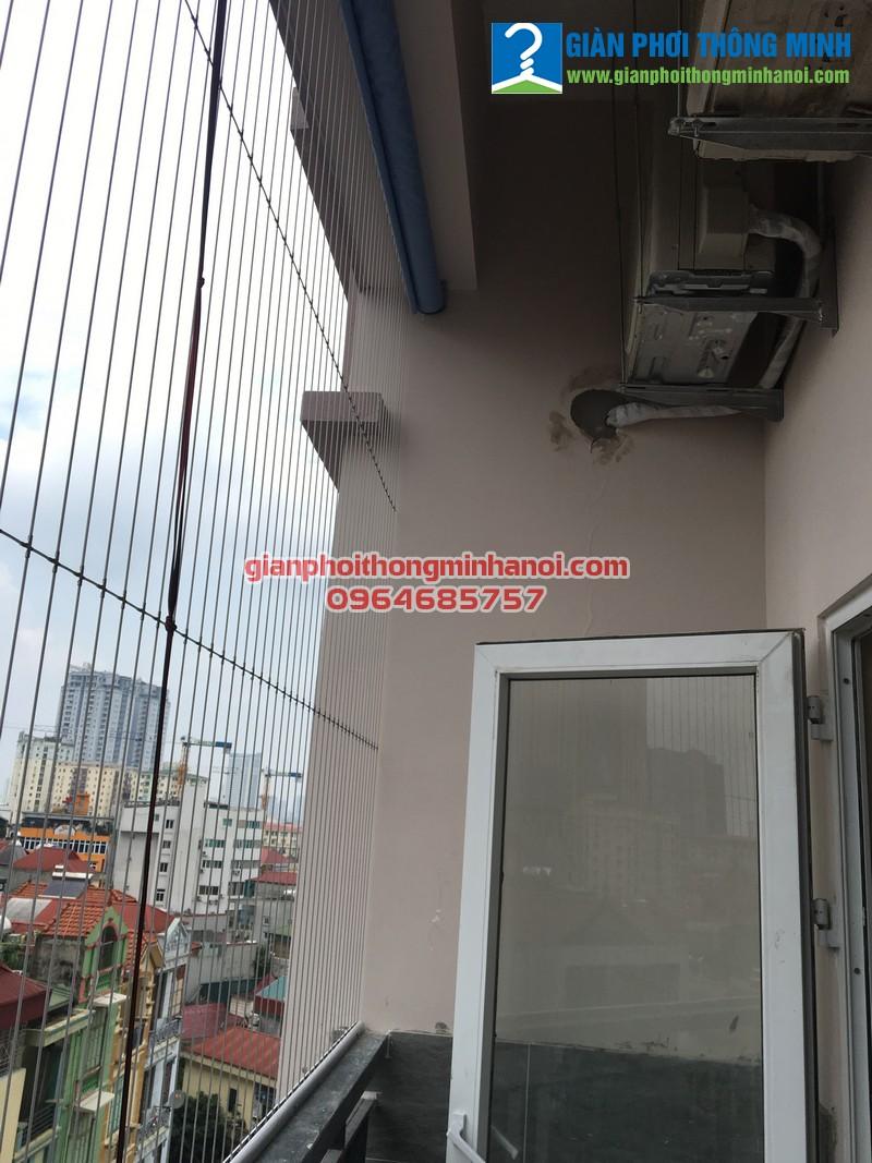 Lắp giàn phơi quần áo cho nhà chị Hà P804 chung cư 168 Trung Kính
