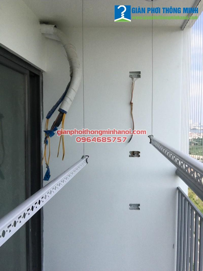 Lắp giàn phơi thông minh Hàn Quốc nhà chị Bình, P2201, N01-T2, chung cư Ngoại Giao Đoàn