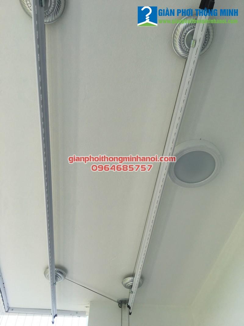 Lắp giàn phơi thông minh Hàn Quốc cho nhà chị Bình, P2201, N01-T2, chung cư Ngoại Giao Đoàn