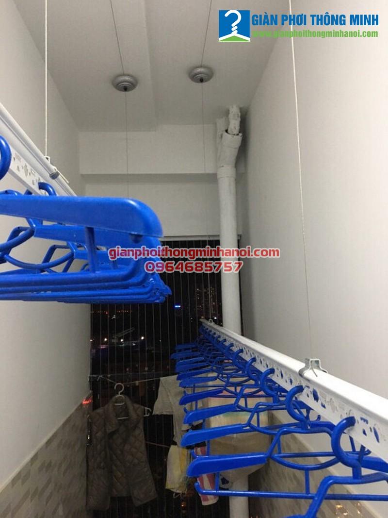 Lắpgiàn phơi thông minh nhập khẩu cho nhà bác Đại, P806, R2, Goldmark City