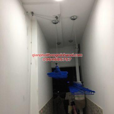 Lắp giàn phơi thông minh nhập khẩu cho nhà bác Đại, P806, R2, Goldmark City