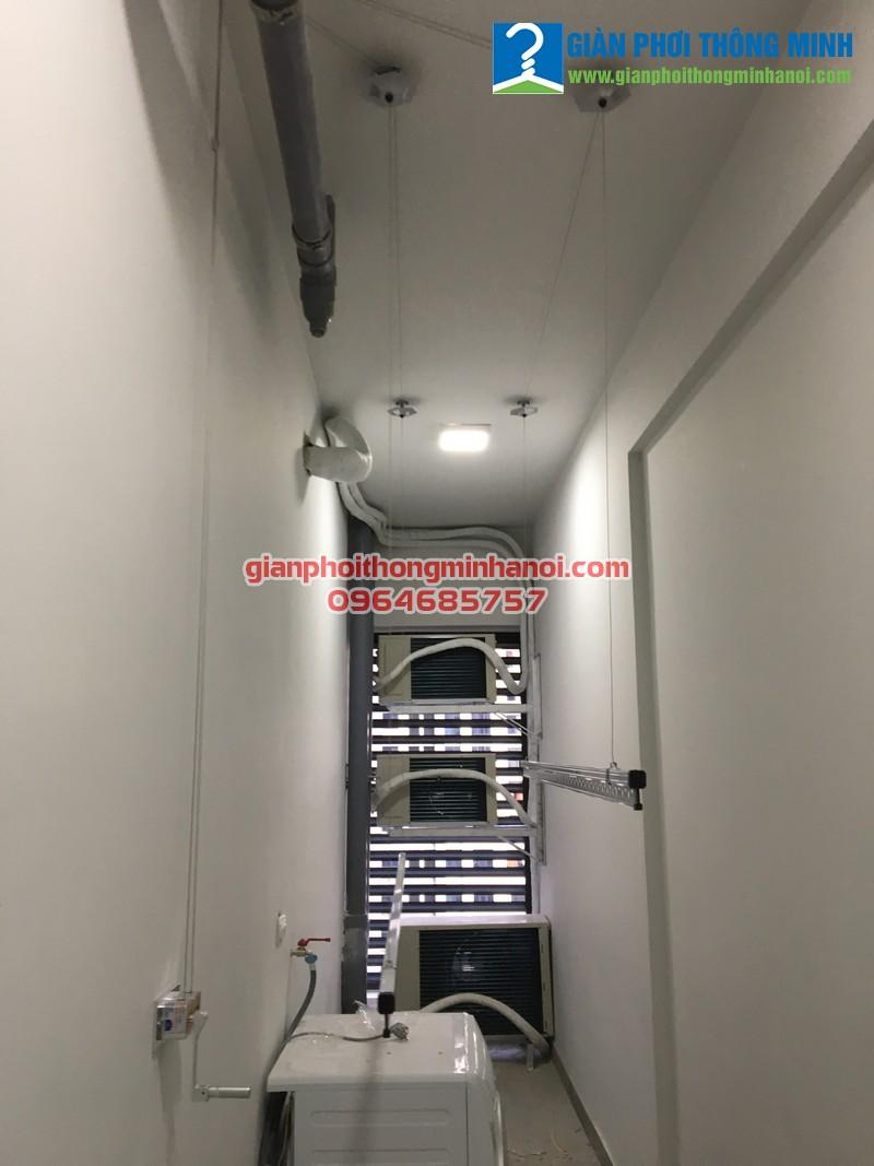 Lắp giàn phơi thông minh giá rẻ cho nhà chị Tâm chung cư D2 CT2 Linh Đàm