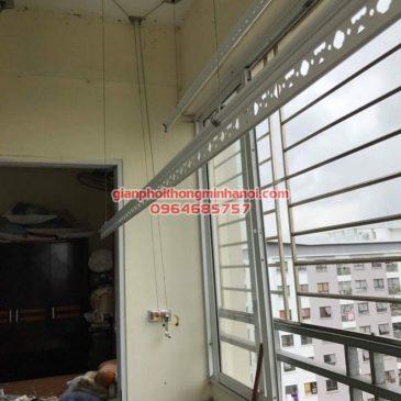 Lắp hoàn thiện giàn phơi thông minh Hoà Phát AIR cho nhà chị Vinh P908, A1D1, Khu đô thị Đặng Xá