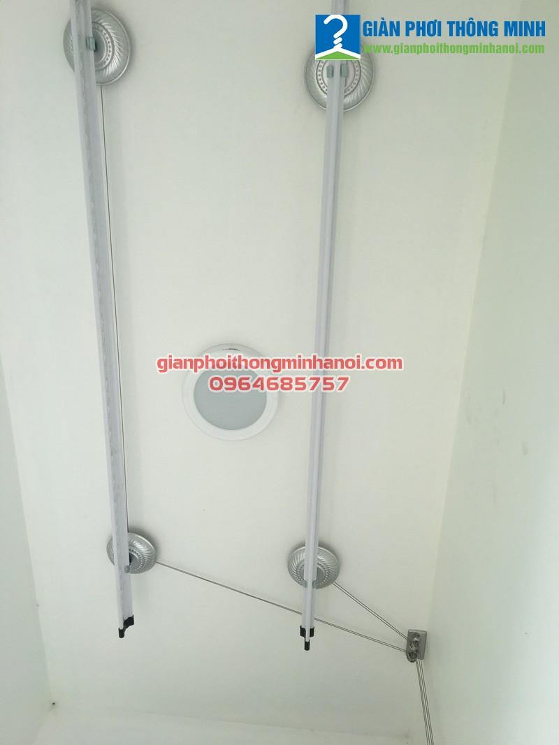 Hoàn thiện lắp đặt giàn phơi nhập khẩu Singapore nhà chị Thu, N03 - T1 chung cư Ngoại Giao Đoàn