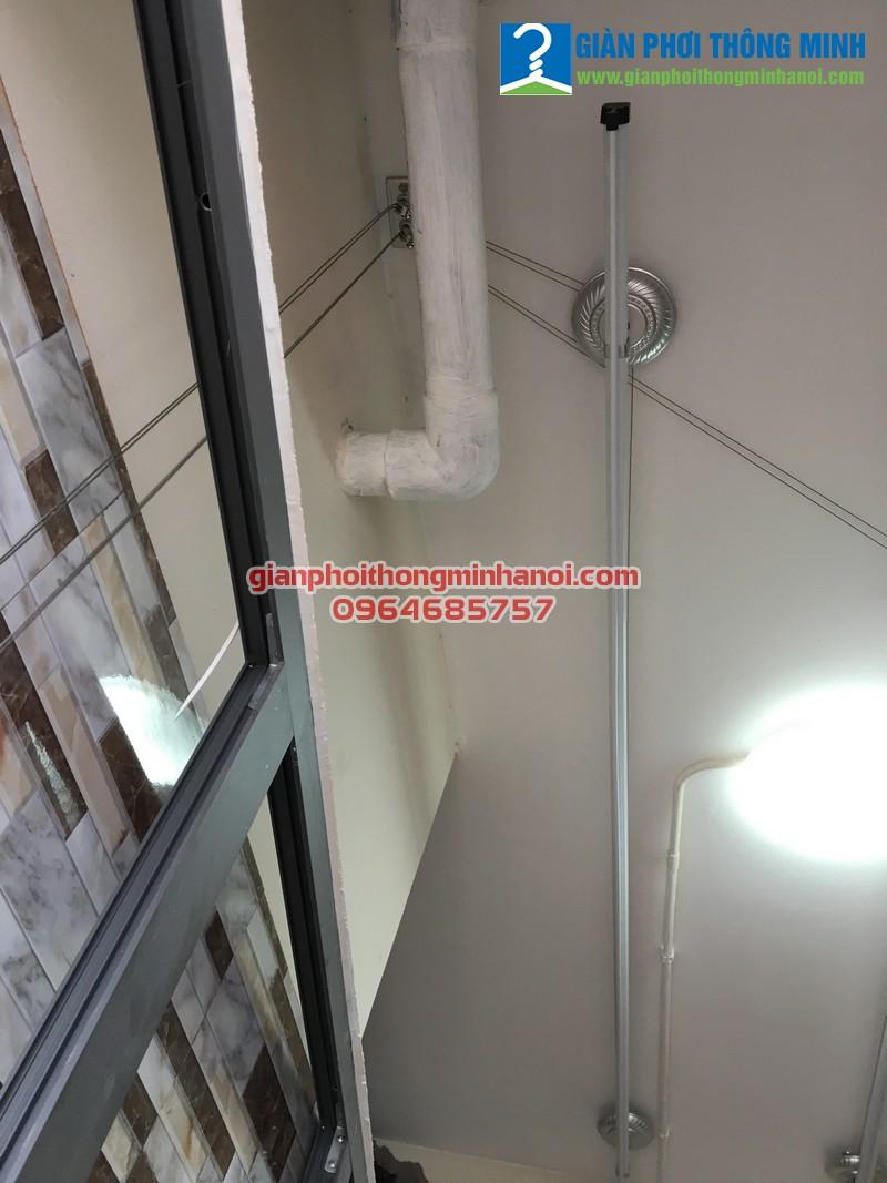 Hoàn thiện lắp đặt giàn phơi  Duy Lợi cho nhà chị Thoa, P1902, V2, chung cư Home City