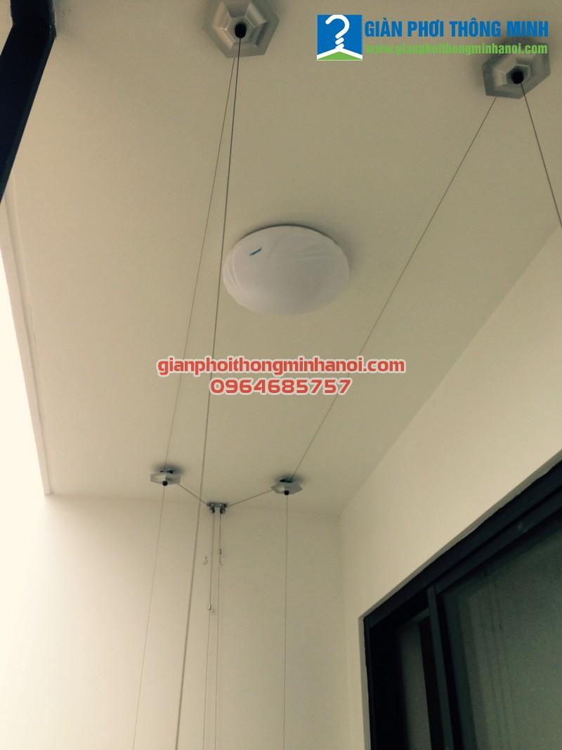 Lắp giàn phơi thông minh cho nhà chị Hạnh, P605, chung cư Kim Giang