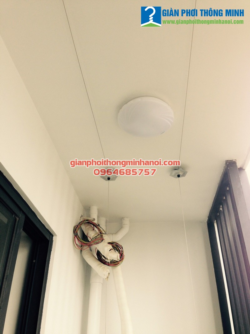 Lắp giàn phơi thông minh Hàn Quốc cho nhà chị Hạnh, P605, chung cư Kim Giang