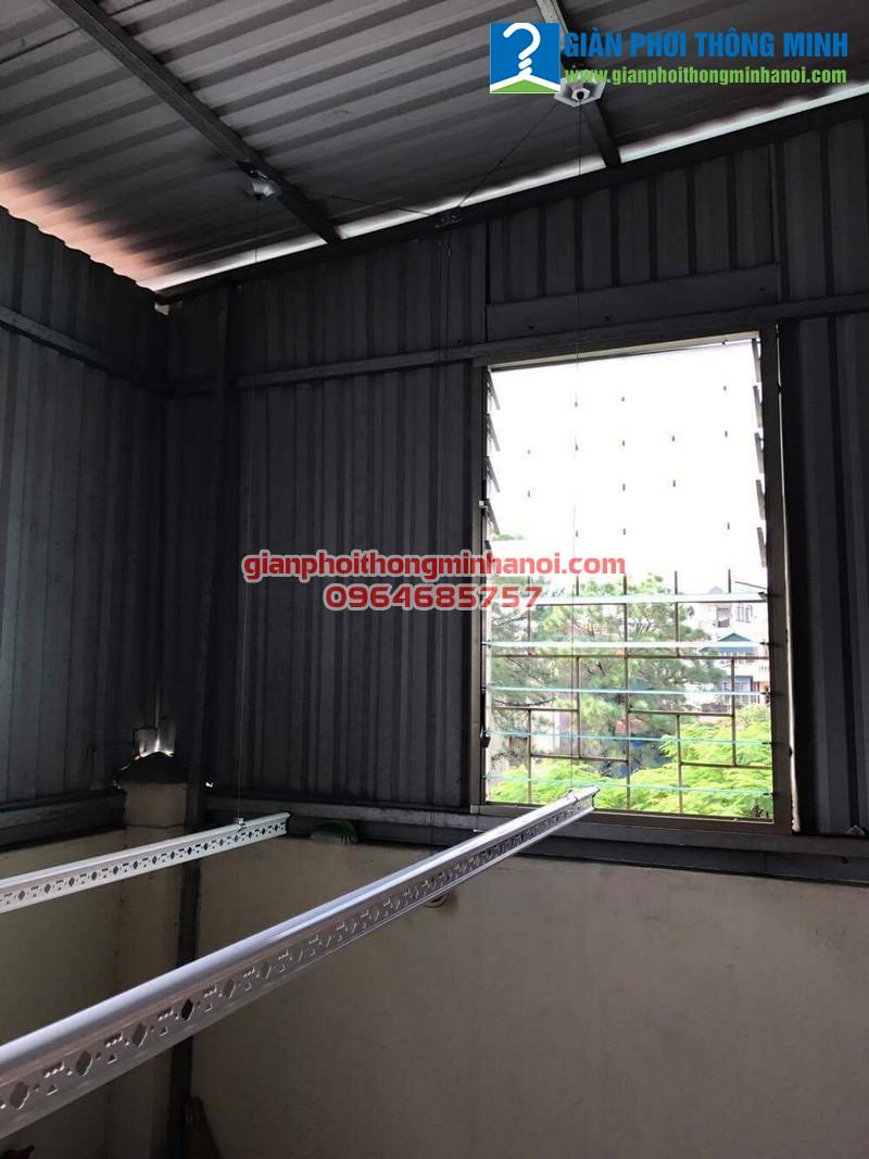 Lắp giàn phơi nhập khẩu cho nhà anh Huy, số 7, ngõ 290 Kim Mã