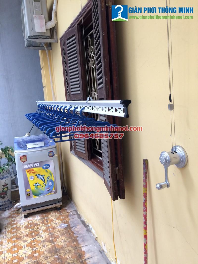 Lắp đặt giàn phơi thông minh cho nhà chú Thái, số 19, ngõ 448, Hà Huy Tập, Long Biên