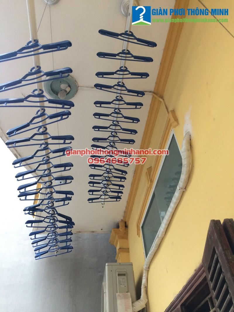 Lắp đặt giàn phơi đồ thông minh cho nhà chú Thái, số 19, ngõ 448, Hà Huy Tập, Long Biên