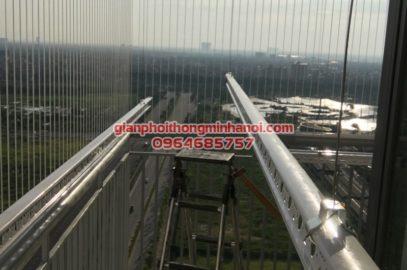 Lắp giàn phơi và lưới an toàn cho nhà anh Bảo tại P2101, N04 – T2, chung cư Ngoại Giao Đoàn