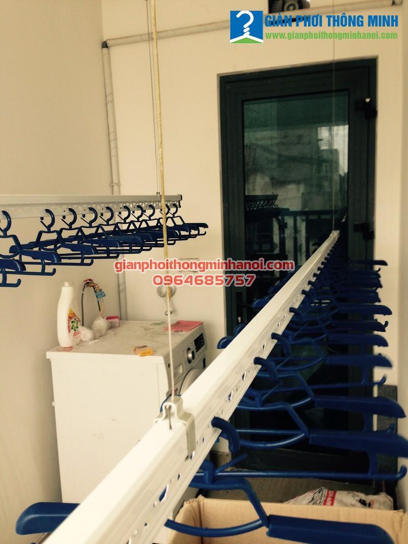 Lắp giàn phơi nhập khẩu tự động cho nhà chị Diệu, N03 - T5 chung cư Ngoại Giao Đoàn