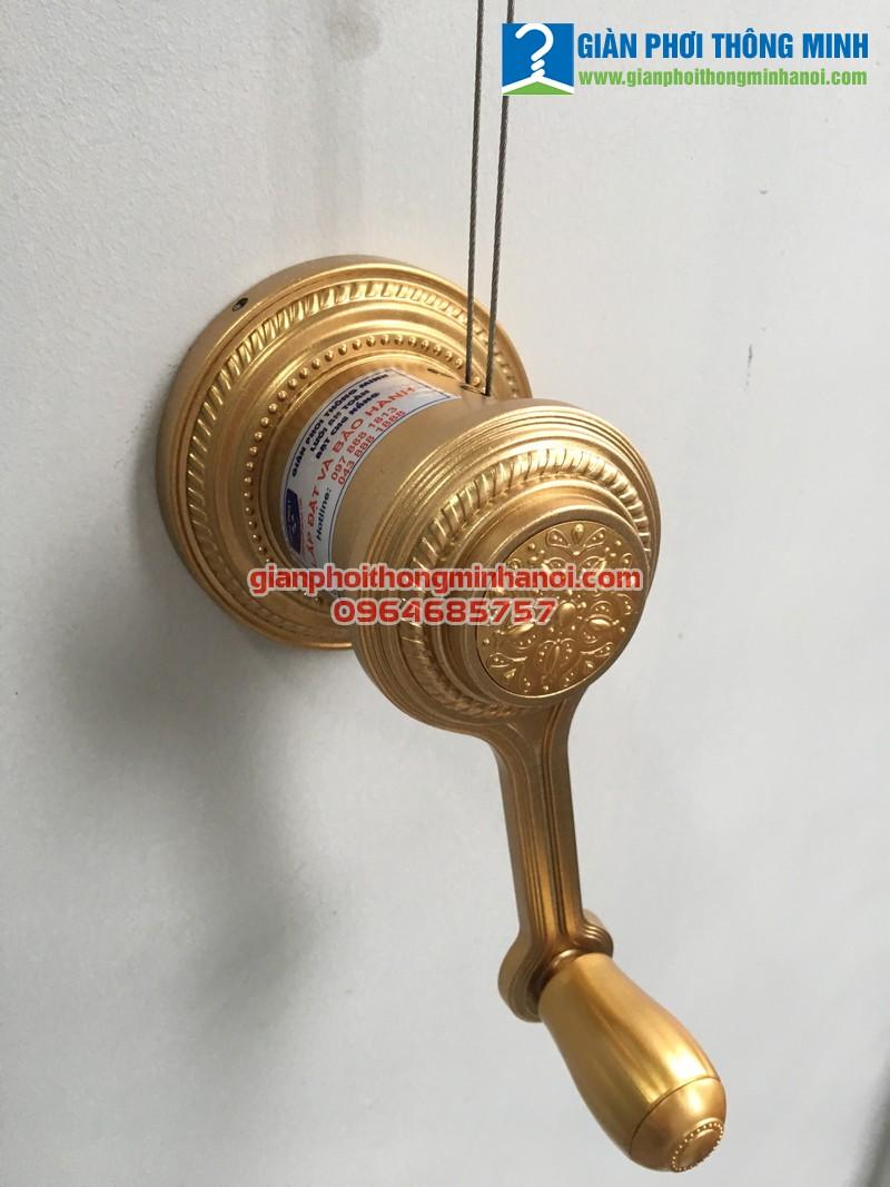 Lắp giàn phơi nhập khẩu Thái Lan chất lượng cao cho nhà chị Nga, 214 Nguyễn Xiển