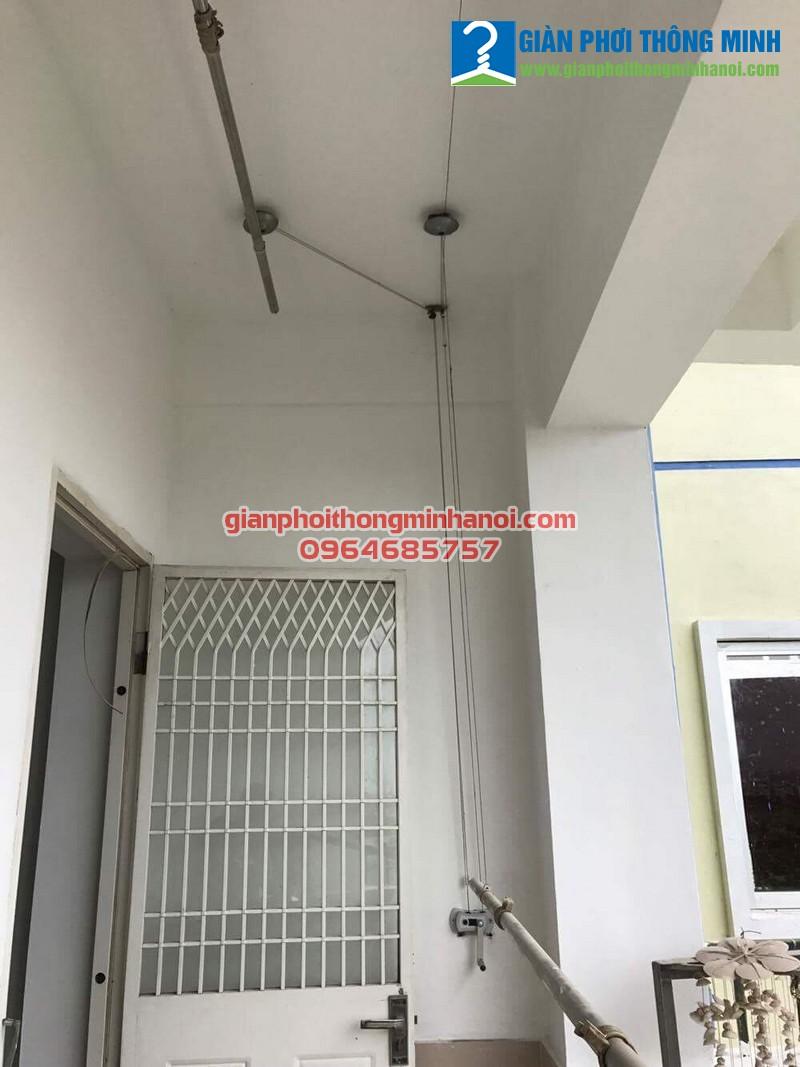 Sửa giàn phơi thông minh cho nhà chị Xuân, P2 khu đô thị Việt Hưng, Long Biên
