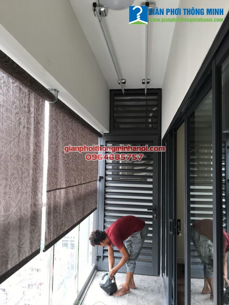 Lắp giàn phơi thông minh và lưới an toàn cho nhà anh Minh chung cư 143 Nguyễn Tuân
