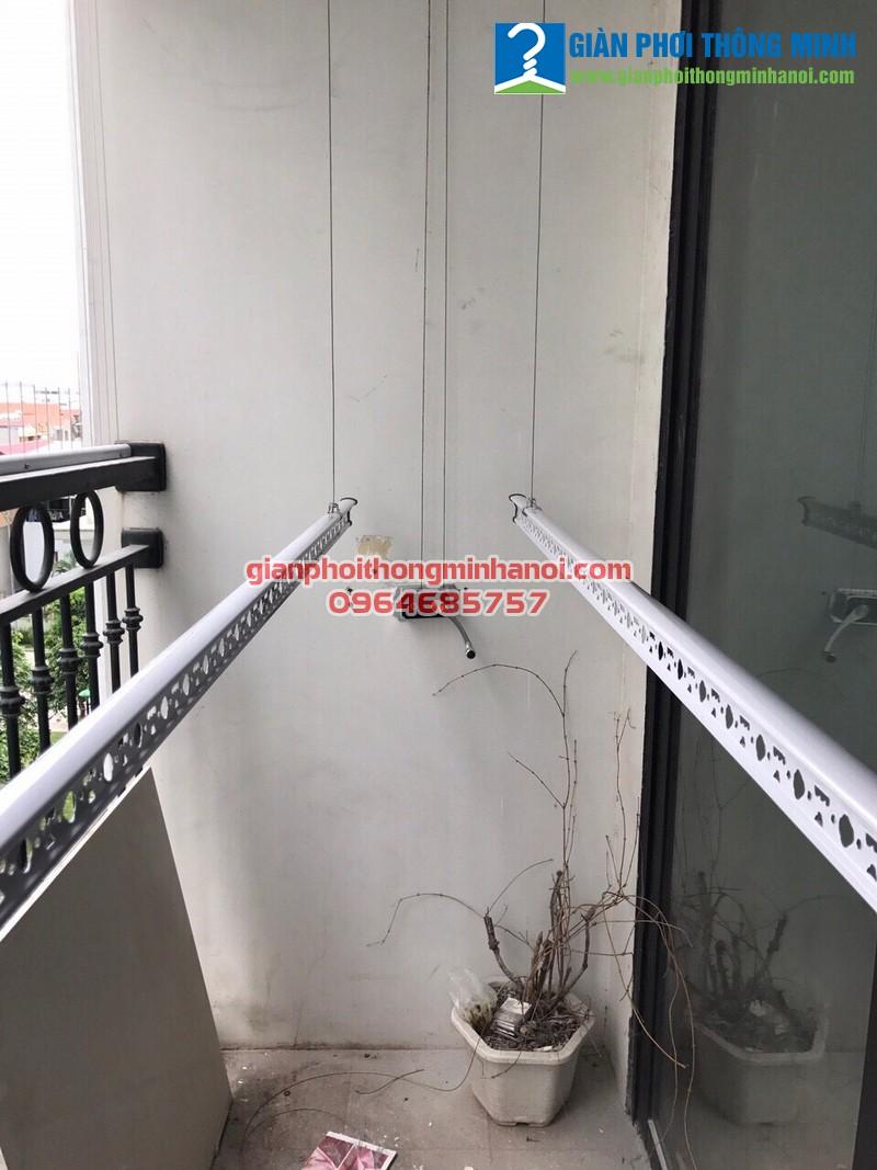 Hoàn thiện lắp đặt giàn phơi và lưới an toàn cho nhà anh Thuỷ, P0508, T3, Times City