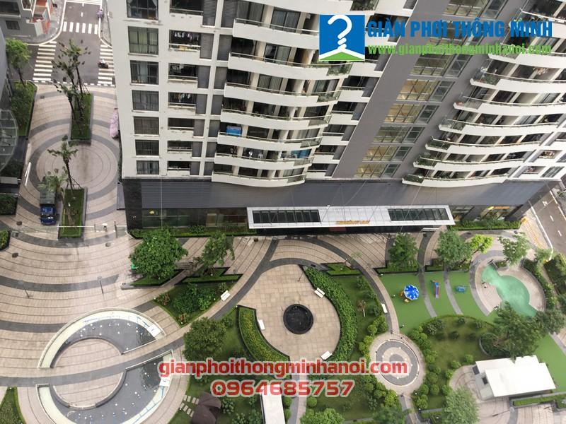 Hoàn thiện lắp đặt giàn phơi nhập khẩu Singapore cho chị Mai, P1611, CT2B, chung cư Tràng An