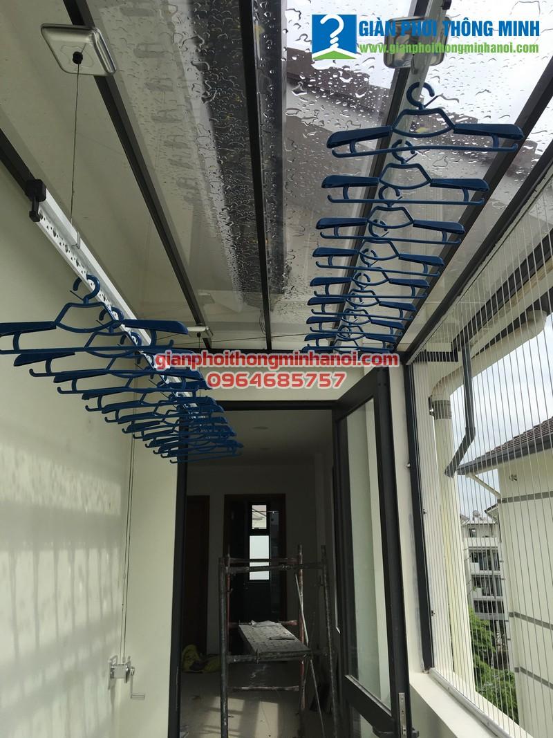 Lắp giàn phơi thông minh chất lượng cao cho nhà chị Hòa, LK24 Vinhome Thăng Long