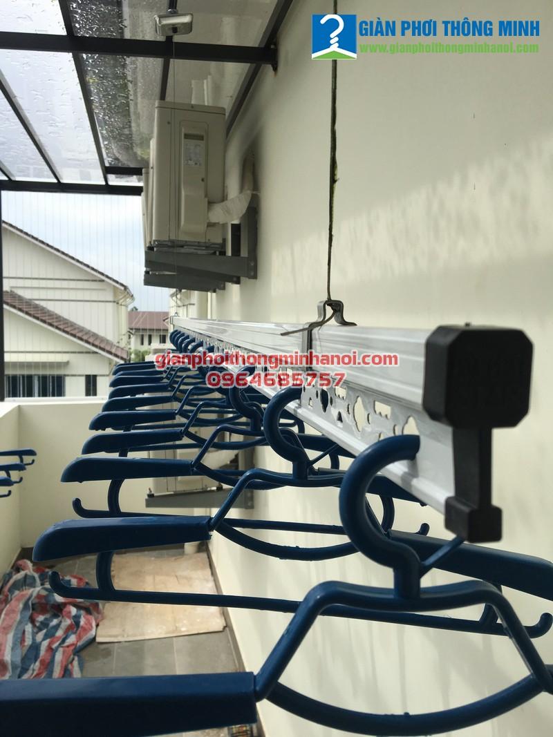 Lắp giá phơi đồ chất lượng cao cho nhà chị Hòa, LK24 Vinhome Thăng Long