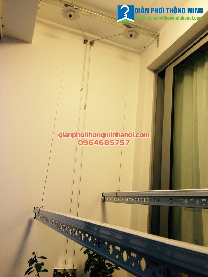 Hoàn thiện lắp đặt giàn phơi quần áo cho nhà anh Tuấn, P1523, Park 6, Park Hill Time City
