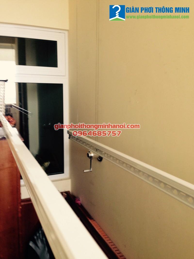 Lắp giàn phơi thông minh cho nhà anh Bình P1501 chung cư Hoà Bình Green City