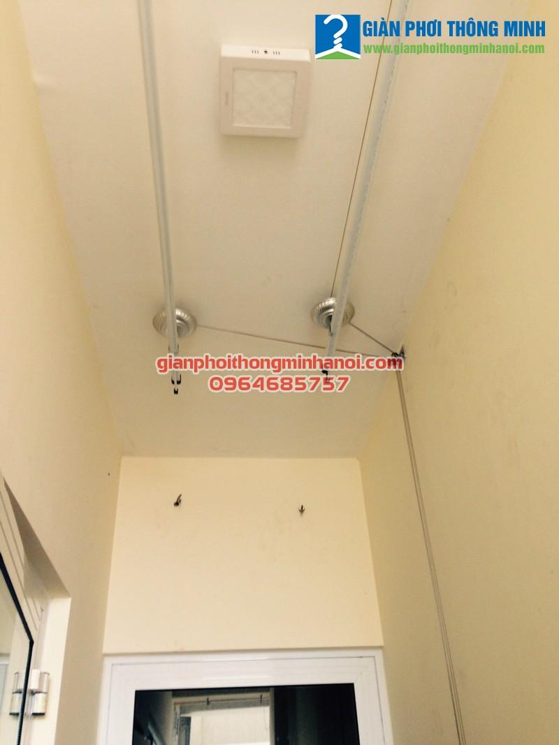 Lắp giàn phơi thông minh Hoà Phát AIR cho nhà anh Bình P1501 chung cư Hoà Bình Green City