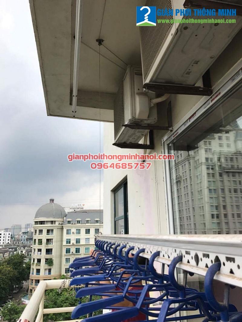 Sửa giàn phơi thông minh hỏng dây cáp cho nhà cô Lan, P711, CT3 Khu đô thị Mễ Trì