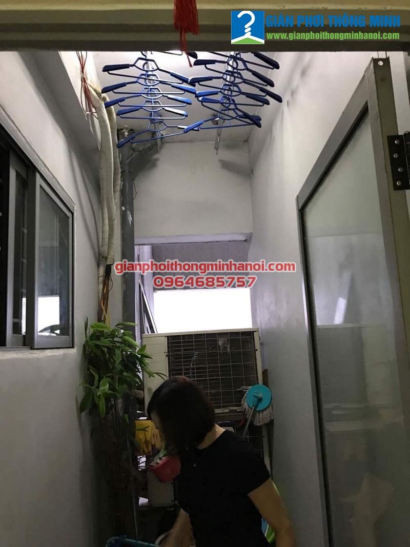 Sửa giàn phơi thông minh cho nhà anh Nam, P711, CT1, Kiến Hưng, Hà đông