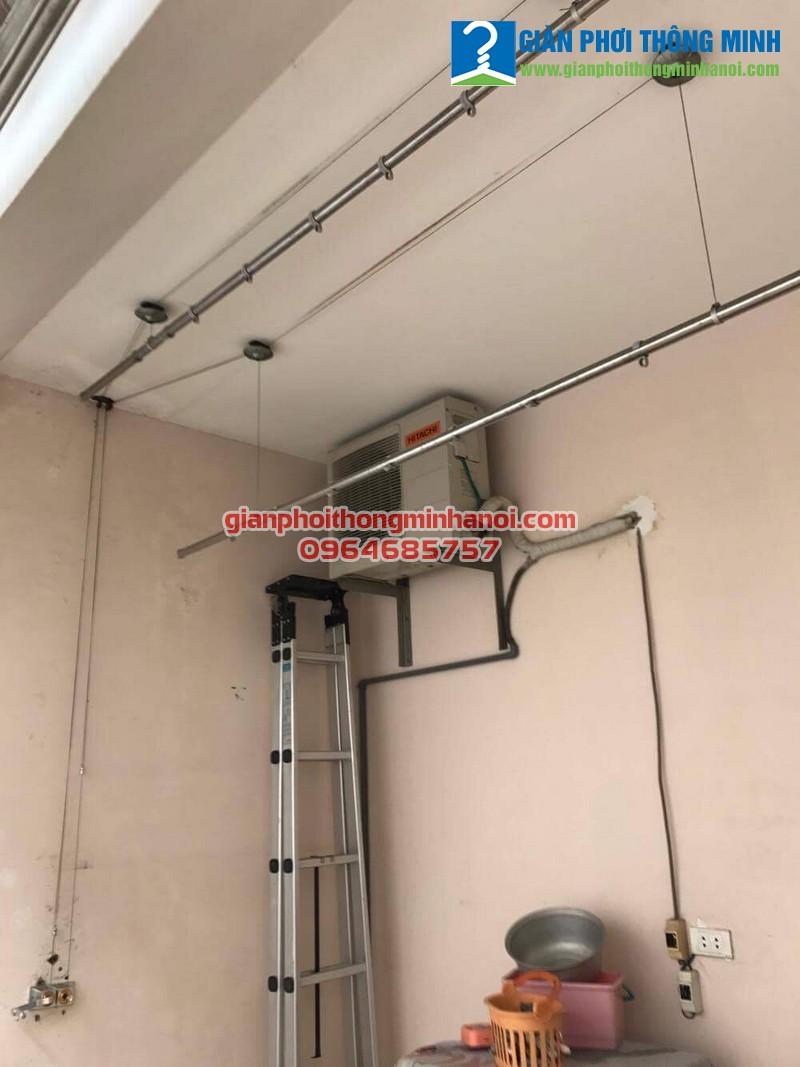 Sửa giàn phơi hỏng củ quay cho nhà anh Bắc, T5 khu đô thị Ciputra, Xuân Đỉnh
