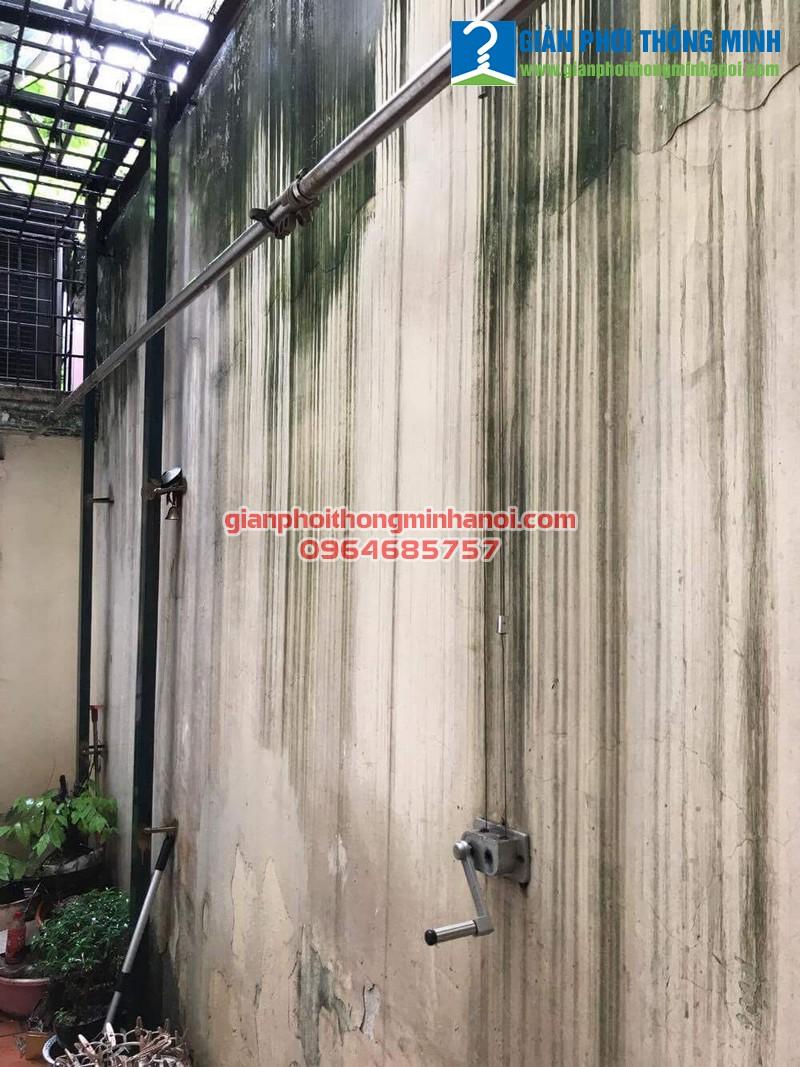 Sửa giàn phơi thông minh đứt dây cáp cho nhà chú Bình, P109, B2A, Bắc Thành Công