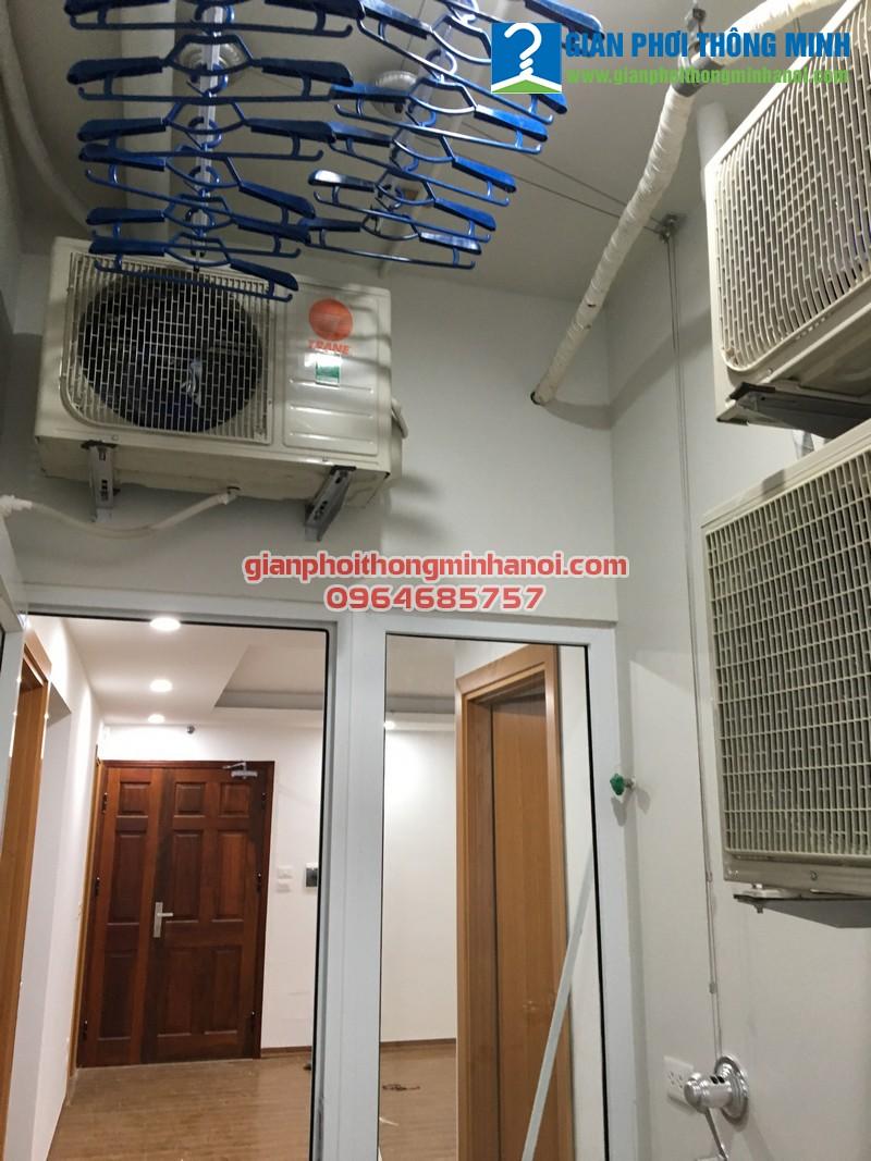 Triển khai lắp đặt giàn phơi nhập khẩu Thái Lan cho nhà chị Hoa P1103, tòa B, chung cư 122 Vĩnh Tuy
