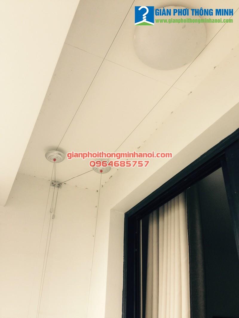 Lắp giàn phơi Hòa Phát Star cho nhà anh Hiếu P1601 T10 Times City